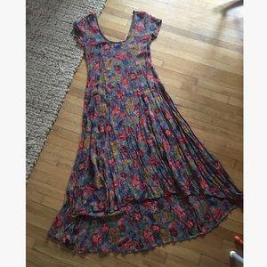 Vintage • sheer | floral dress